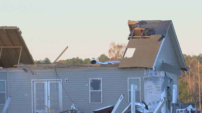 A home damaged in Irwin County.