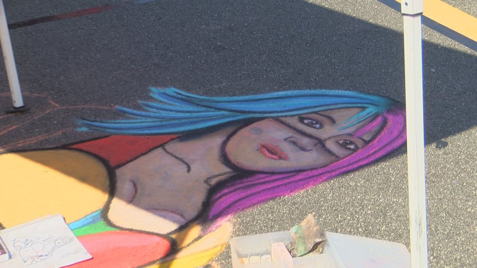 Art work by Brittany Williams from Chalkfest