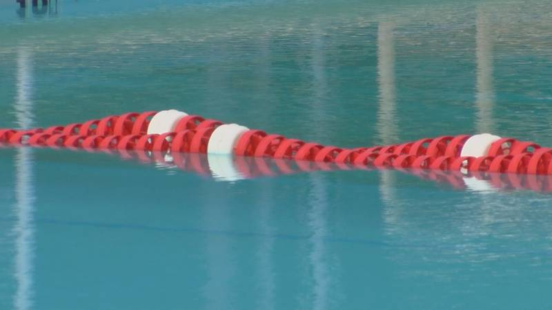 Swimming lessons are being taught at Driskell Pool.
