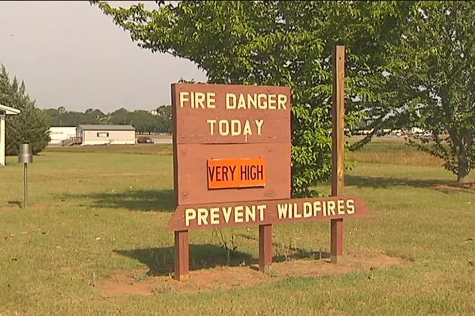 The sign at the Georgia Forestry Commission office in Albany says it all - fire danger is very...