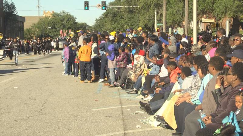 The incident happened at the Albany State University Homecoming parade on Saturday.