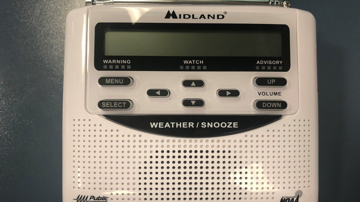 Steps to program a Midland NOAA Weather Radio