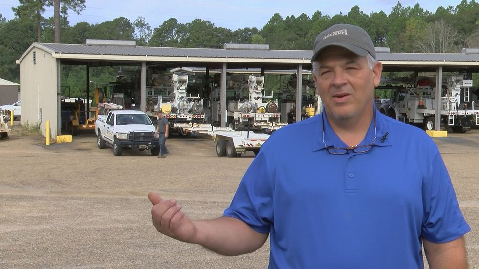 Grady EMC General Manager John Long explained the need for additional crews ahead of Hurricane...