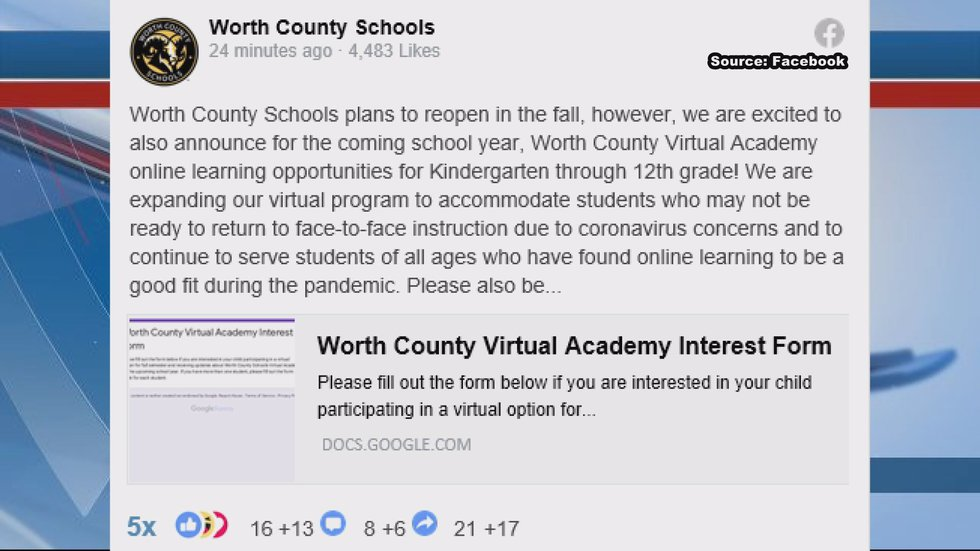 Worth county school system is giving students the opportunity to continue online learning the...