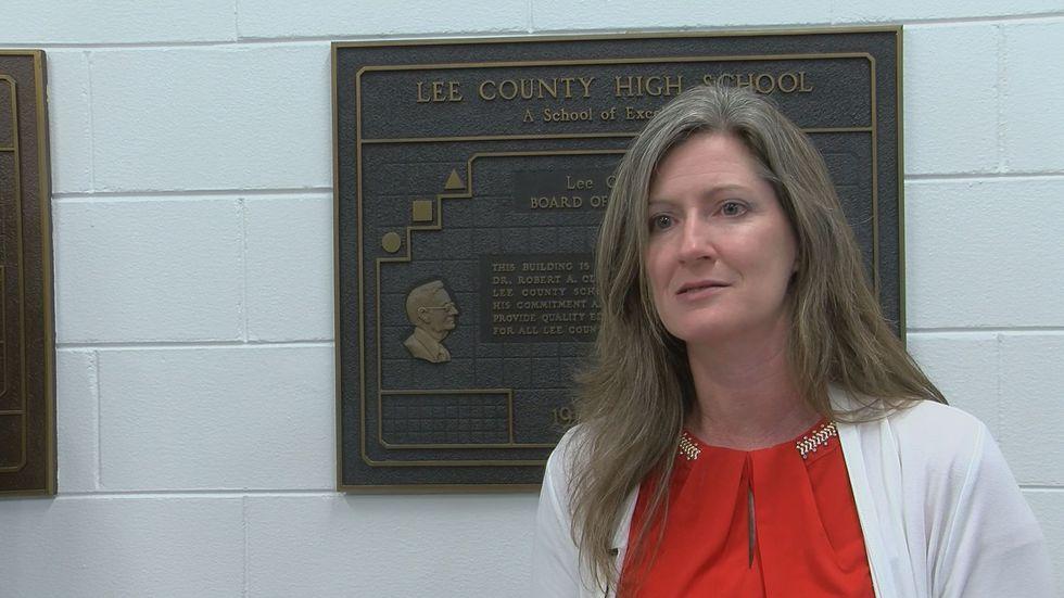 Karen Hancock is the Prinicipal of Lee County High School.
