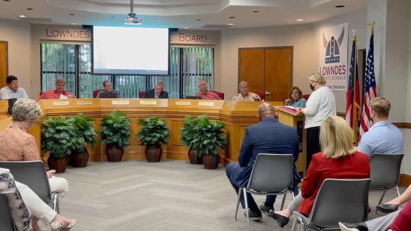 The Lowndes County School board met Monday afternoon.