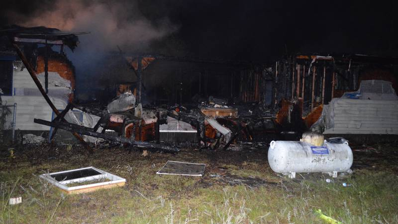 Scene of fatal Camilla gas explosion and fire on June 21, 2021.
