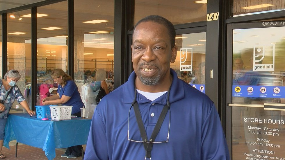 Lemmule Sanders is the store manager for the new Goodwill in Moultrie.