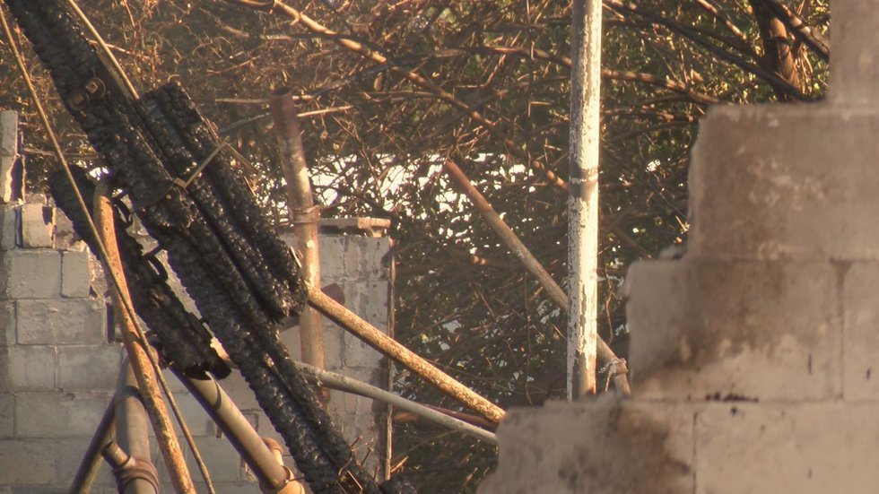 The blaze then spread destroying three quarters of the building. (Source: WALB)