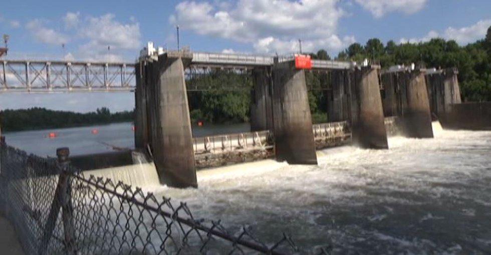 Savannah River lock and dam
