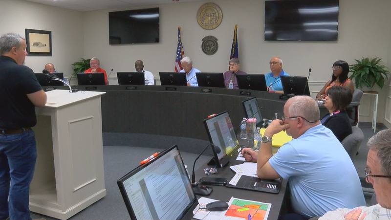 Monday night's Tift County Commission meeting.