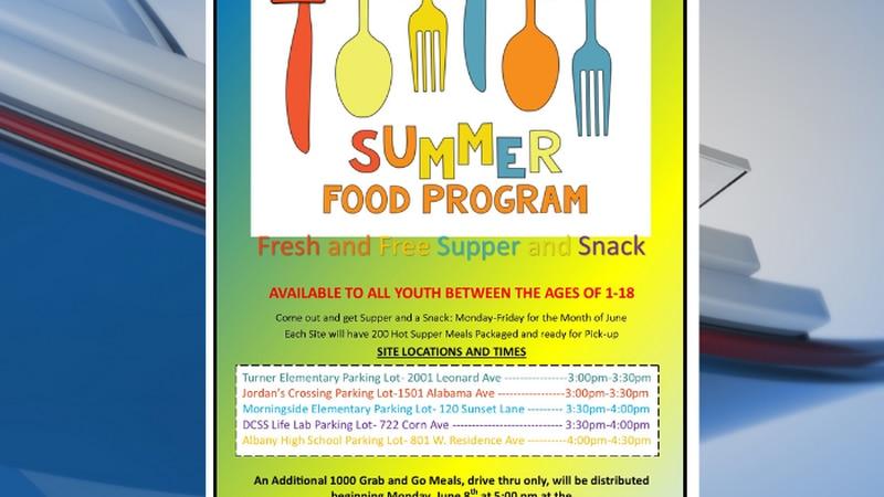 Outreach center offers free summer food program.