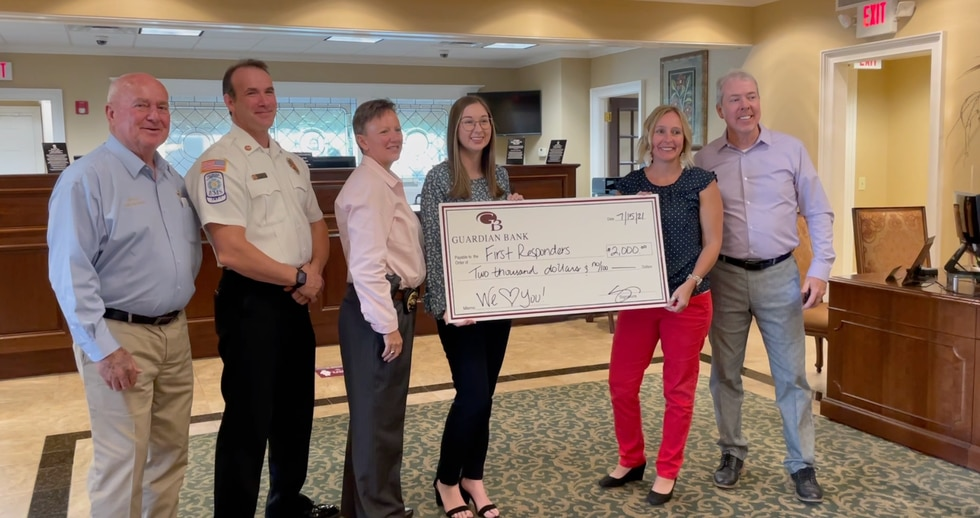 Donations presented to first responders fund.