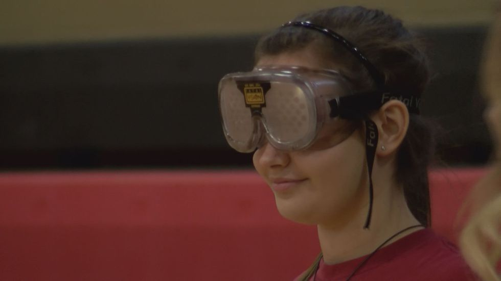 The goggles simulated what it's like to drive under the influence (Source: WALB)