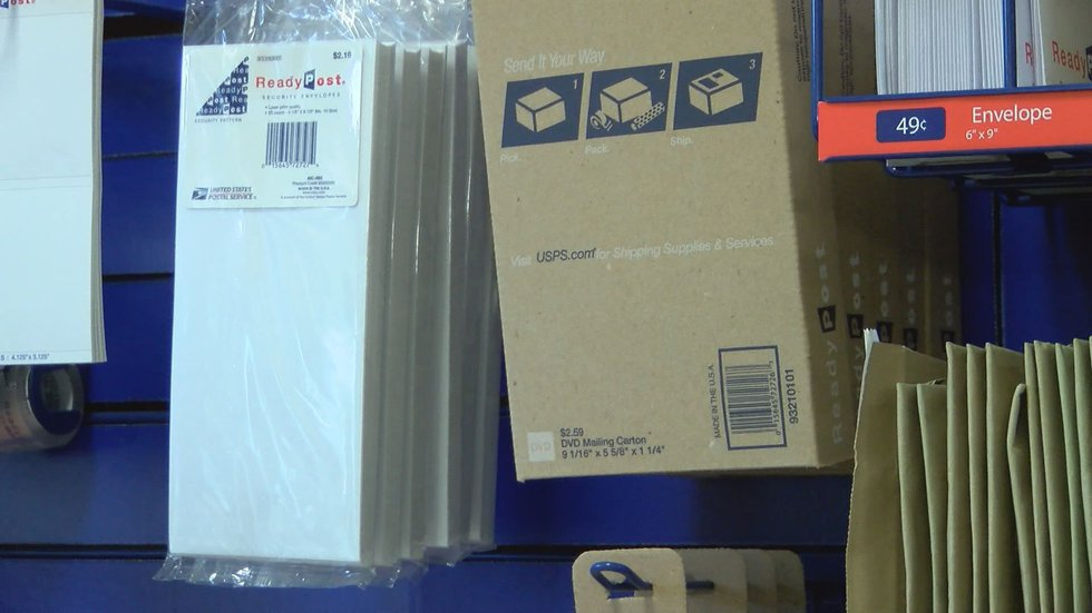 Each Post Office provides shipping supplies that customers may purchase for their packages....