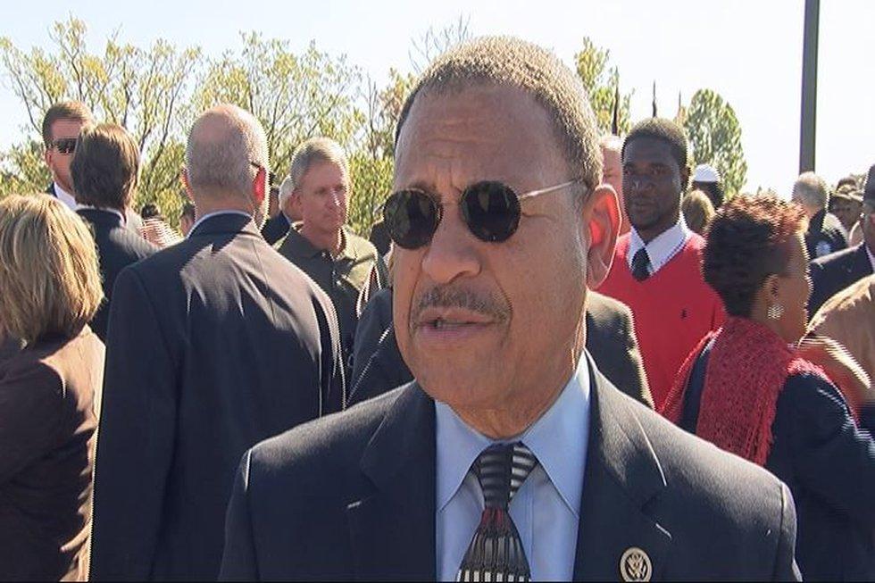 U. S. Congressman Sanford Bishop came to see the bridge
