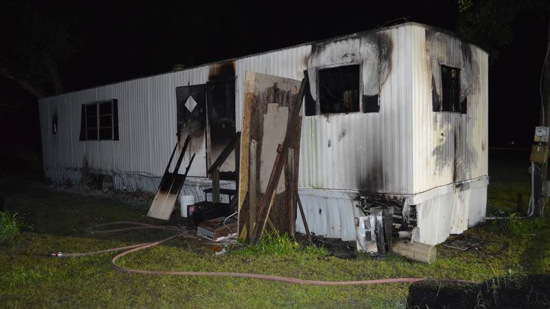 Scene of fatal Worth County mobile home fire on Wednesday, June 23.