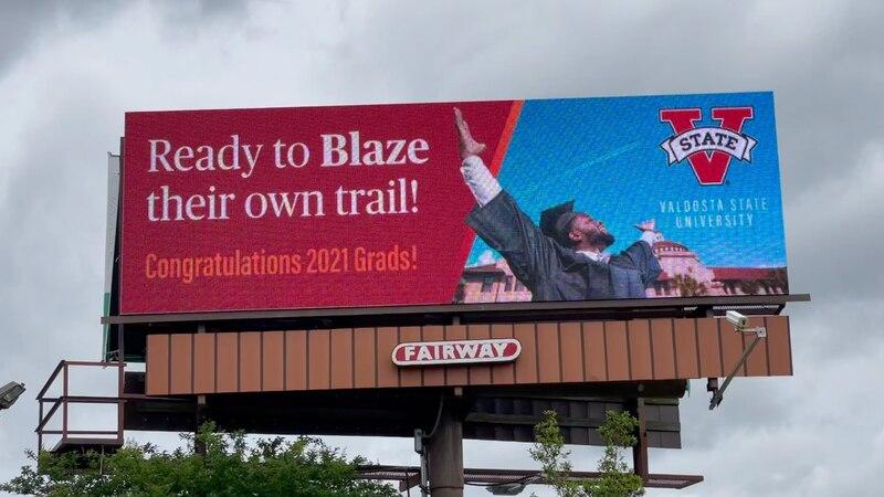 VSU grad featured in new billboard, Breylen Taylor.