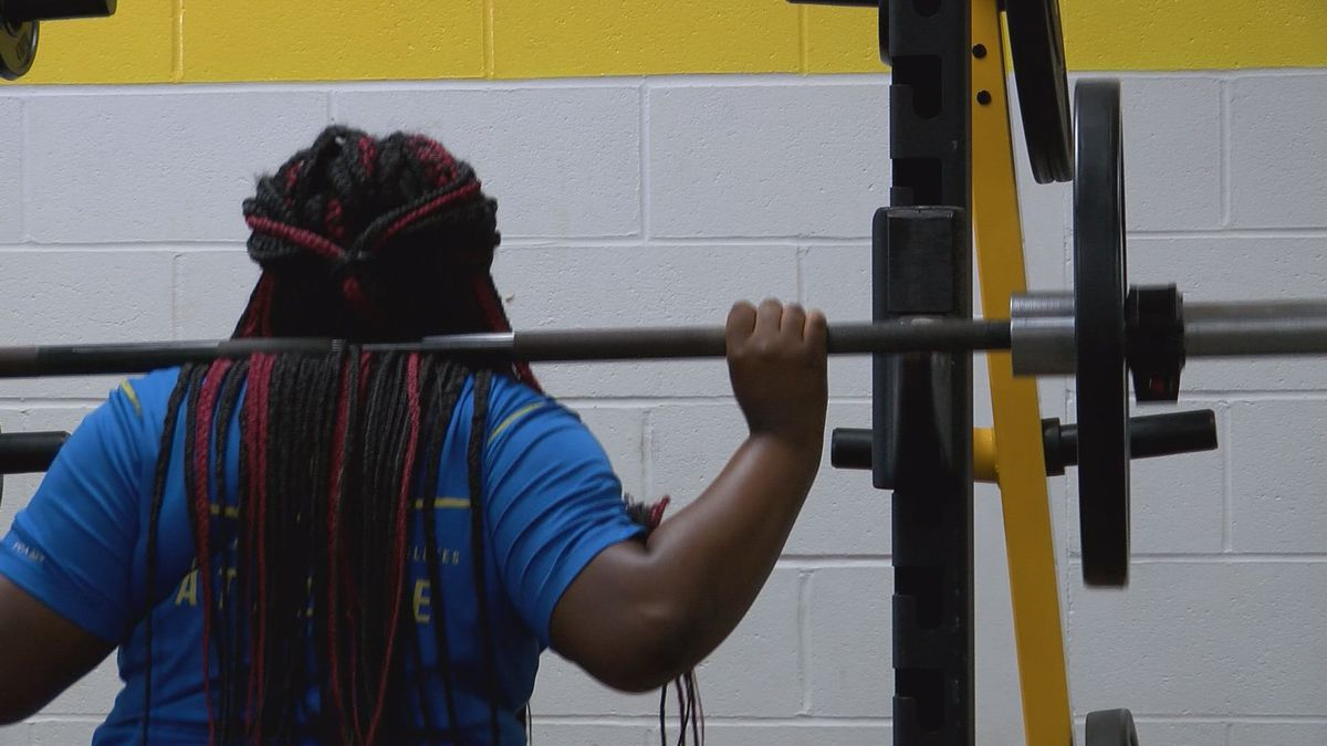 Students getting ready for fall sports.