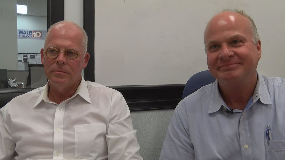 From left to right Lee Co. Commissioners Bill Mathis, Rick Muggridge (Source: WALB)