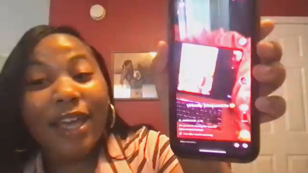 Zion Heard shows Tik Tok video of herself