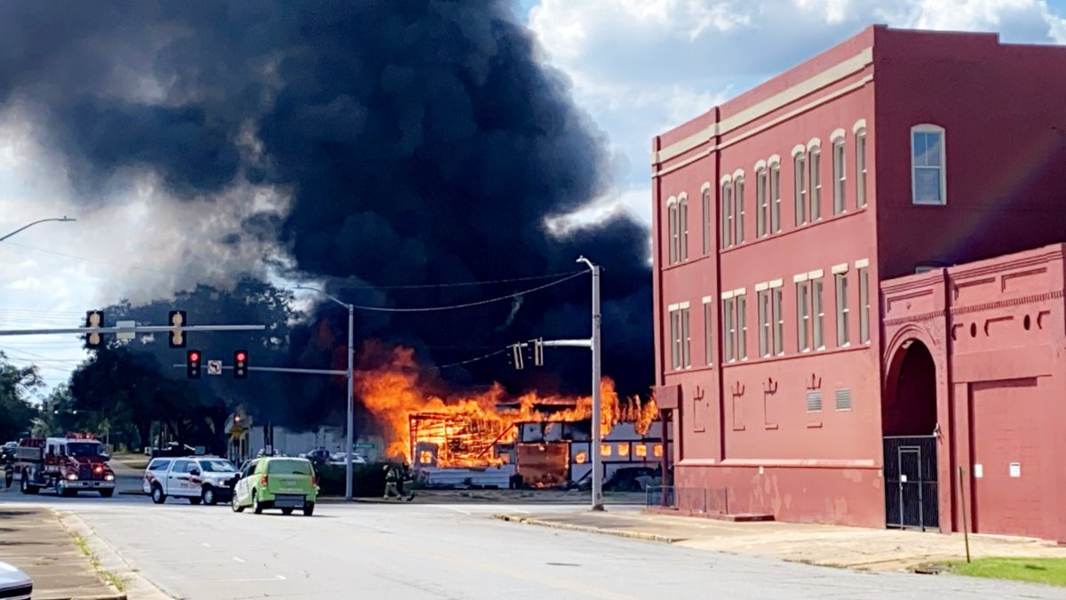 Fire at the old Steve's Auto Trim Shop in downtown Albany on Sept. 10, 2021.