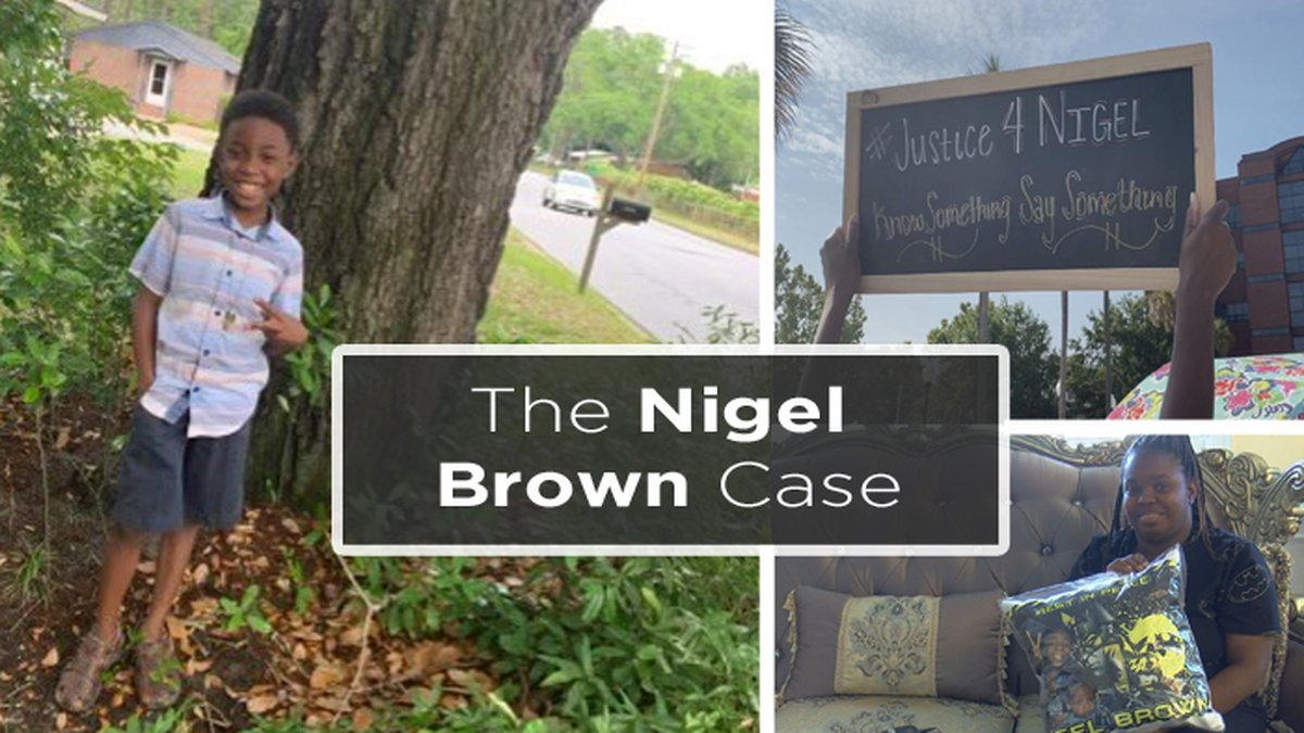 Nigel Brown, 9, was killed in a drive-by shooting in August 2021.